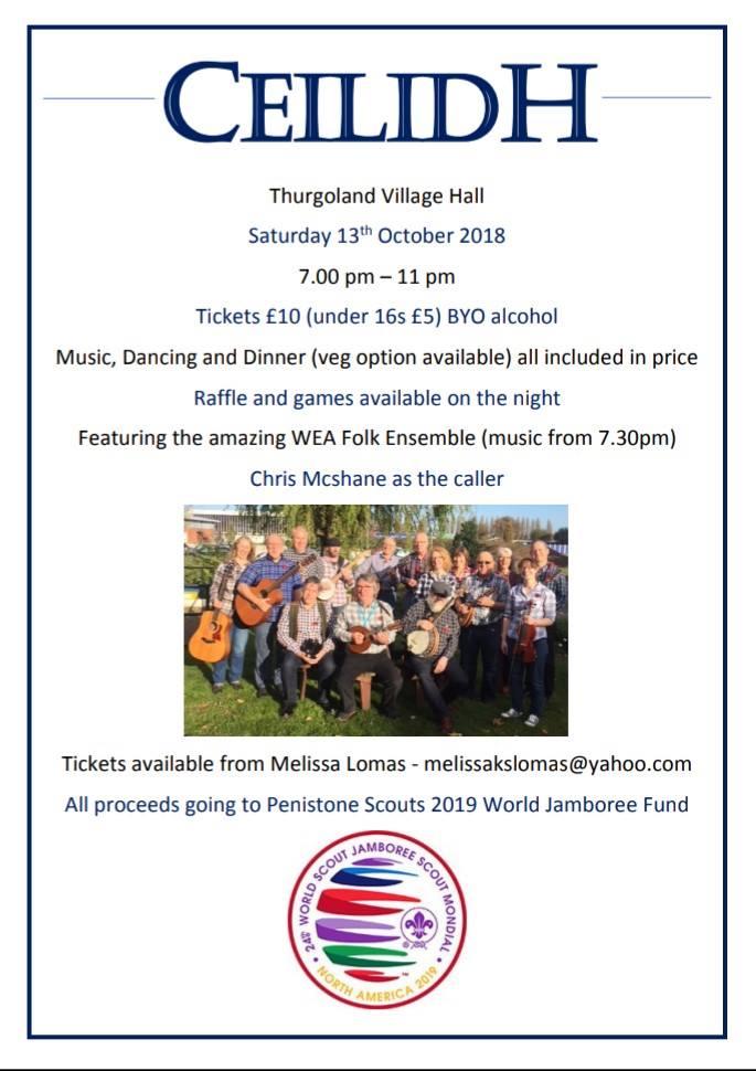 Ceilidh - Jamboree fundraiser @ Thurgoland Village Hall | Thurgoland | England | United Kingdom