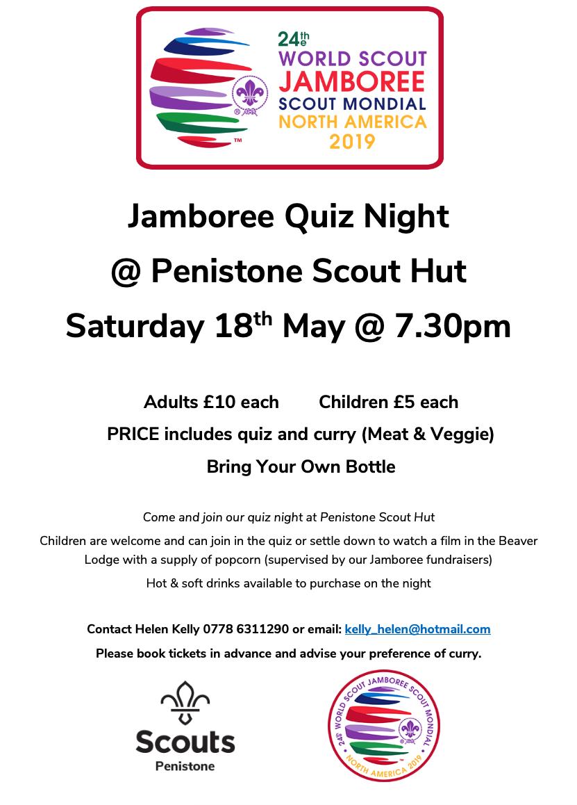 Jamboree Quiz Night @ Penistone Scout Activity Centre | Penistone | England | United Kingdom
